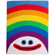 kids rainbow rug for play room decor floor idea