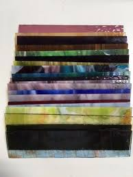 details about 8x2 20 pieces mixed color stained glass sheets mosaic tile panels