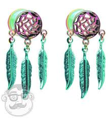 Dream Catcher Tunnels Beautiful Rainbow Dreamcatcher Tunnel Plugs 10000G 100 Inch 24