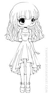 Coloring Page Fascinating Chibi Coloring Page