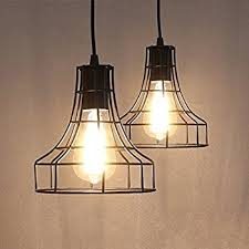 caged lighting. 2-Pack E26 Vintage Metal Cage Pendant Lamps Lighting Chandelier Light Industrial Loft Retro Caged
