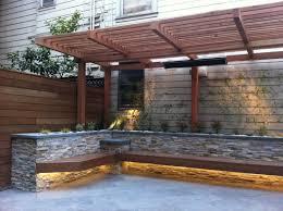 Wood patio ideas Outdoor Patio Patio With Builtin Diy Bench 15 New Diy Patio Furniture And Decoration Ideas