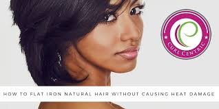 how to flat iron natural hair without