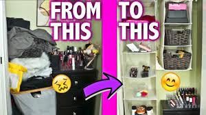 organizing my makeup closet ly storage ideas maidmax dollar tree popluxe