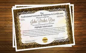 best diploma certificate psd templates premium templates premium psd diploma certificate 6
