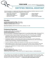 Medical Assistant Resume Template Free Enchanting Resume Example For Medical Assistant Medical Assistant Resume