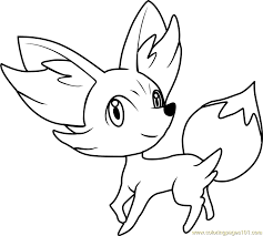 Small Picture Pokemon Coloring Pages Fennekin learn languageme