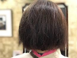 くせ毛えり足の生えぐせくせ毛キュビズムカット くせ毛ブローレス