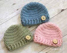 Free Crochet Patterns For Baby Hats Mesmerizing Free Crochet Patterns For Newborn Baby Hats Crochet And Knit