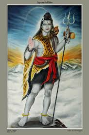 lord shiva oil painting