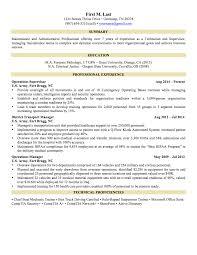 Resume Examples For Military Custom 6 Sample Militarytocivilian