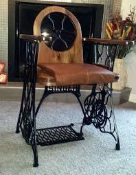 Antique Singer Sewing Machine Chair