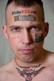 самые глупейшие и нелепые татуировки сделанные на лице