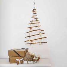 christmas tree on wall. Beautiful Christmas Battery Decorative Wooden Branch Hanging Christmas Tree Wall Light Ladder Throughout On T