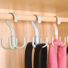 360 Degree Rotating Belt Hanger Scarf Tie Rack Holder Hook ...