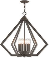 livex 40926 07 prism contemporary bronze hanging chandelier loading zoom