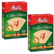 Microfine flavor enhancing perforations allow the full coffee flavor to filter through for a rich, flavorful cup of coffee. Melitta 4 Coffee Filters Natural Brown 2 Pack Of 100 Filters