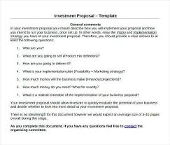 Proposal Templates Free Microsoft Word Beauteous Business Investment Proposal Lovely Free Business Investment