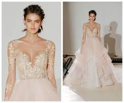 blush wedding dress trend 6870