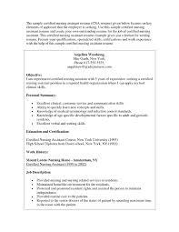 Lovely Sample Resume For Cna Resume For Example Of Resume Resume