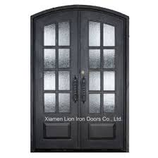 custom exterior steel security entrance doors iron front door