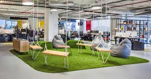 office area design. This \u0027hang-out\u0027 Area With Swings, Was Spotted In The Red Bull Office Design D