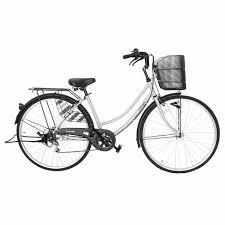 8月下旬以降発送 自転車 27インチ ママチャリ 6段変速ギア オートライト Familia ファミリア 激安 グレーau Wowma