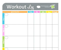 Daily Workout Journal Fitness Journal Template Printable Workout Log Free Monster
