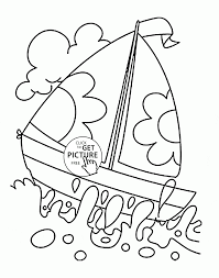 Small Picture Sailboat over Water coloring page for kids transportation
