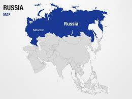 World Map Power Point Russia On World Map Powerpoint Map Slides Russia On World Map Map