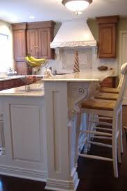 ideas splendid houzz kitchen islands with corbels and vintage wood counter  stools in white also iron wire fruit basket on top of bianco romano granite  ...