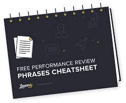 Free Performance Review Phrases Cheatsheet Lessonly