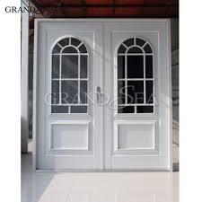 Superb European Style French Door Aluminum Front Door With Grill Design