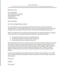 Cover Letter Nursing Sample Resume Letters Job Application