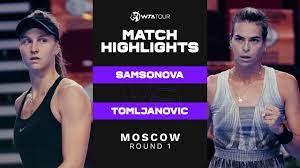 Liudmila Samsonova vs. Ajla Tomljanovic | 2021 Moscow Round 1 | WTA Match  Highlights - YouTube