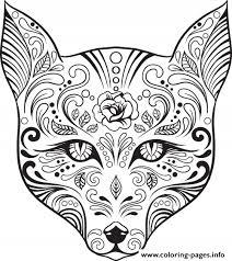 Free Printable Sugar Skull Coloring Pages At Getdrawingscom Free