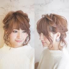 結婚式の髪型ボブでもできるアップスタイル 結婚式髪型ヘア