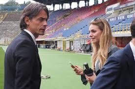 Bologna, Pippo Inzaghi allo stadio con la fidanzata Angela Robusti -  CorrierediBologna.it