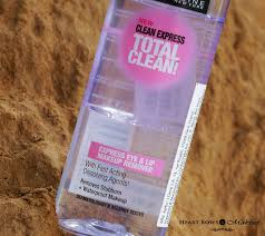 maybelline clean express total clean waterproof eye lip makeup remover review