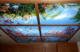 Sky Ceiling Murals Flowered Ceiling Light Panel Mural