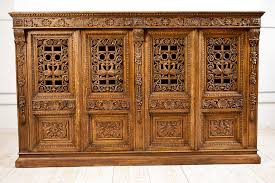antique cabinet doors. french antique four door carved cabinet with pierced panels doors a