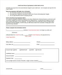 Recurring Payment Authorization Form Authorization Forms In Doc