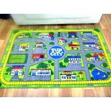 road map rugs play mat rug for kids sport resort fun city car activity mats large