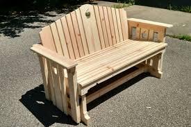 wooden furniture ideas. Handmade Wooden Porch Glider With Apple Design For Outdoor Furniture Ideas