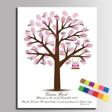 Aliexpresscom  Buy Guest Book Fingerprint Tree Signature Fingerprint Baby Shower Tree