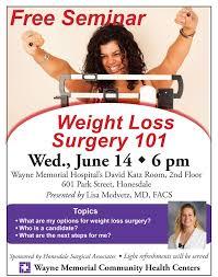 Free Weight Loss Surgery Seminar June 14th - Wayne Memorial Hospital