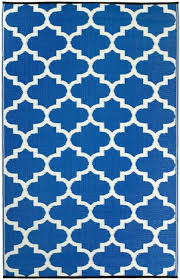 tangier blue trellis outdoor rug