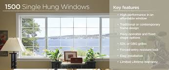 our 1500 vinyl collection offers features you d expect to find in premium windows without the premium tag our single hung window boasts a sy