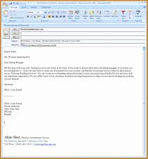 How To Email A Resume Email Resume Template Example Document And Resume