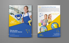 Cleaning Brochure Cleaning Services Company Bi Fold Brochure